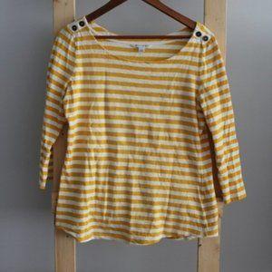 🌻Banana Republic Yellow Striped Top